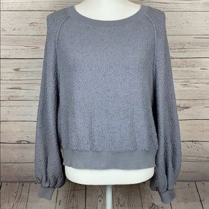 Free People Gray Sweater Pullover Long Sleeves XS